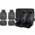 10-pc-Star-Wars-Darth-Vader-Black-Front-Bench-Seat-Covers-Rubber-Floor-Mats-Set-0