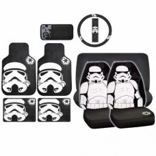 10pc-Star-Wars-Stormtrooper-Front-Bench-Seat-Covers-Rubber-Mats-Steering-Cover-0