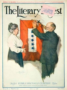 1918-Cover-Service-Star-Flag-Literary-Digest-Military-War-Patriotism-Alfred-Orr-Original-Cover-0