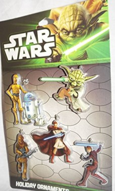 2013-Star-Wars-Set-of-5-One-Sided-Mini-Christmas-Ornaments-5-Different-Characters-0
