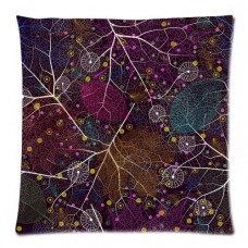Abstract-Tree-Leaves-and-Floral-Pattern-Custom-Zippered-Pillow-Cushion-Case-Throw-Pillow-Covers-20x20two-sides-Fabric-Cotton-and-Polyester-0