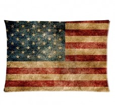 American-Flag-Style-Pillowcase-Cover-20x30-one-side-Cotton-Pillow-Case-0