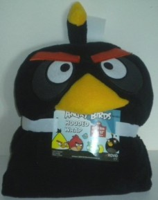 Angry-Birds-Kids-Hooded-Wrap-Blanket-40x52-Ver-Soft-Black-Bird-0