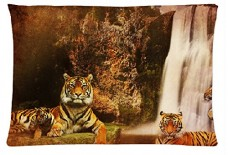 Animal-Cute-Tiger-Style-Pillowcase-Cover-20x30-one-side-Cotton-Pillow-Case-Pattern-18-0