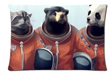 Animal-astronauts-Style-Pillowcase-Cover-20x30-one-side-Cotton-Pillow-Case-0