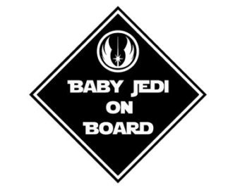 Baby Jedi On Board Baby On Board Vinyl Car Decal