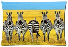 Beautiful-Zebra-Animals-Style-Pillowcase-Cover-20x30-one-side-Cotton-Pillow-Case-16-Pattern-0