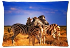 Beautiful-Zebra-Animals-Style-Pillowcase-Cover-20x30-one-side-Cotton-Pillow-Case-17-Pattern-0