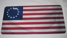 Betsy-Ross-Usa-13-Star-Flag-License-Plate-6-X-12-Inches-New-Aluminum-0