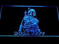 Boba-Fett-Star-Wars-Rare-LED-Neon-Light-Sign-Man-Cave-G097-B-0