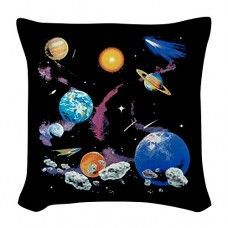 Burlap-Throw-Pillow-Solar-System-And-Asteroids-0