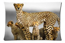 Cheetah-family-Style-Pillowcase-Cover-20x30-one-side-Cotton-Pillow-Case-0