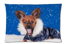 Chihuahua-dressed-up-Style-Pillowcase-Cover-20x30-one-side-Cotton-Pillow-Case-0