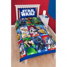 ChildrensKids-Star-Wars-Cartoon-Print-Bedding-Duvet-Cover-and-Pillowcase-Twin-Bed-Blue-0