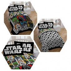 Classic-Star-Wars-4-Pc-Bedding-Set-with-Reversible-Comforter-Sheets-and-Pillow-Case-0