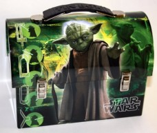 Collectable-Star-Wars-Yoda-Tin-Dome-Lunch-Box-Workmans-Carry-All-Lunchbox-0