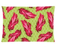 Colorful-Feather-Style-Pillowcase-Cover-20x30-one-side-Cotton-Pillow-Case-0