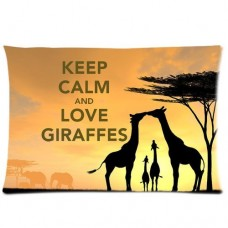 Custom-Animal-Giraffe-Love-Rectangle-Pillow-Cases-20x30-one-side-Comfortable-For-Lovers-And-Friends-0