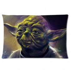 Custom-Star-Wars-Episode-I-yoda-Aliens-Rectangle-Pillowcase-Covers-in-Size-16x24-Inch-one-side-0