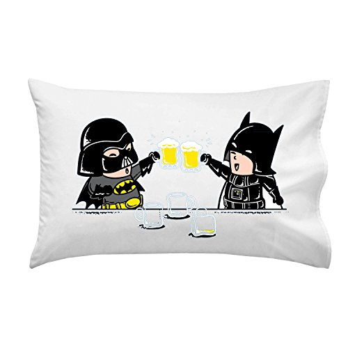 Dark-Side-Buddy-Beer-Drinking-Friends-Funny-Villain-Super-Hero-Movie-Parody-Pillow-Case-Single-Pillowcase-0