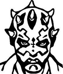 Darth-Maul-Decal-Sticker-Car-Wall-White-or-Black-or-Red-H-6-By-L-5-Inches-0