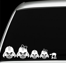 Darth-Vader-family-vinyl-decals-window-stickers-set-of-5-0