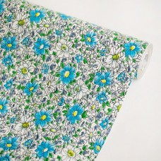 Flower-Ocean-Blue-Vinyl-Self-Adhesive-Wallpaper-Prepasted-Wall-stickers-Wall-Decor-Roll-0