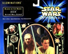 Glow-In-The-Dark-Jedi-Action-Wall-Scenes-Star-Wars-Episode-I-The-Phantom-Menace-Amazing-AuraGlow-Wall-Decor-0