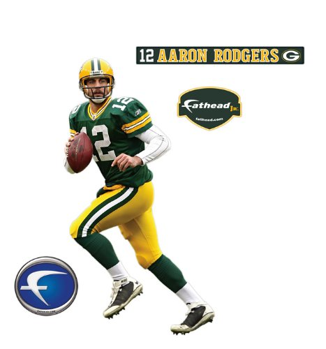 Green Bay Packers Aaron Rodgers Junior Wall Decal  e4f379004