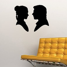 Han-Solo-and-Princess-Leia-Silhouette-Wall-Decal-Black-22w-x-17h-0