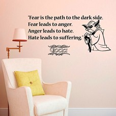 Housewares-Vinyl-Decal-Fear-Is-the-Path-to-the-Dark-Side-Star-Wars-Quote-Home-Wall-Art-Decor-Removable-Stylish-Sticker-Mural-Unique-Design-for-Any-Room-0