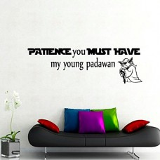 Housewares-Vinyl-Decal-Patience-You-Must-Have-Star-Wars-Quote-Home-Wall-Art-Decor-Removable-Stylish-Sticker-Mural-Unique-Design-for-Any-Room-Nursery-Bedroom-Dorm-Decals-0