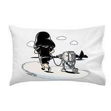 Jogging-Funny-Space-Movie-Parody-Villain-Running-Robot-Dog-on-Beach-Pillow-Case-Single-Pillowcase-0