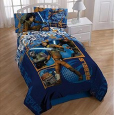 Kids-11-pc-Bedroom-Ensemble-Star-Wars-Rebels-TwinFull-Bedding-Comforter-Full-Sheet-Set-Plush-Blanket-Throw-and-Set-of-2-Curtain-Panels-with-Tie-Backs-0