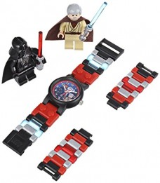 LEGO-Kids-9001192-Star-Wars-Darth-Vader-vs-Obi-Wan-Kenobi-Multicolor-Plastic-Bracelet-Watch-With-Two-Minifigures-0