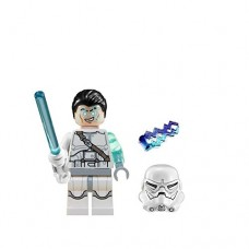 LEGO-Star-Wars-Jek-14-Minifigure-Complete-White-lightsaber-helmet-hair-piece-lightning-2014-0