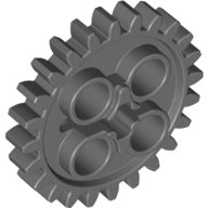 Lego-Parts-Technic-Gear-24-Tooth-New-Style-with-Single-Axle-Hole-DBGray-0