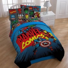 Marvel-Heroes-Super-Heroes-Twin-Full-Size-Comforter-Avengers-0