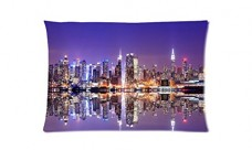 New-York-City-No-Night-City-Style-Pillowcase-Cover-20x30-one-side-Cotton-Pillow-Case-0