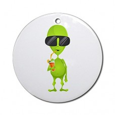 Ornament-Round-Little-Green-Alien-Sipping-a-Drink-0