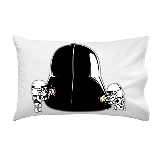 Polishing-Funny-Space-Movie-Parody-Villain-Helmet-Cleaned-by-Troops-Pillow-Case-Single-Pillowcase-0