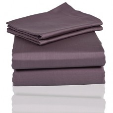 PrasadCollections-Tailored-Finish-100-Egyptian-Cotton-King-600TC-Lilac-Solid-Beautiful-3PCs-Fitted-Sheet-SolidPocket-Size-14-inches-0
