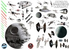 STAR-WARS-Wall-Sticker-set-Space-Battle-0