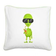 Square-Canvas-Throw-Pillow-Key-Lime-Little-Green-Alien-Sipping-a-Drink-0