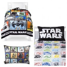 Star-Wars-Classic-5-Piece-Twin-Bed-in-a-Bag-Reversible-Comforter-3-Piece-Sheet-Set-Characters-Bed-Pillow-0