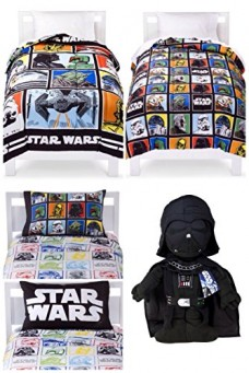Star-Wars-Classic-5-Piece-Twin-Bed-in-a-Bag-with-Darth-Vader-Pillow-Buddy-0