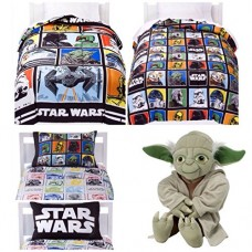 Star-Wars-Classic-5-Piece-Twin-Bed-in-a-Bag-with-Yoda-Pillow-Buddy-0