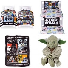 Star-Wars-Classic-6-Piece-Twin-Bed-in-a-Bag-Reversible-Comforter-3-Piece-Sheet-Set-Yoda-Cuddle-Pillow-and-Plush-Throw-0