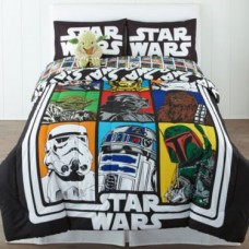 Star-Wars-Classic-TwinFull-Comforter-72x86-Childrens-Bedding-Start-introducing-the-force-to-your-child-early-on-with-this-old-school-styled-Star-Wars-comforter-Imported-0