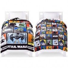 Star-Wars-Complete-6-Piece-Twin-Bed-in-a-Bag-Reversible-Comforter-3-Piece-Sheet-Set-with-Darth-Vader-and-Storm-Trooper-Buddy-Pillows-0-0